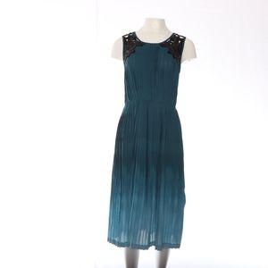 Baraschi Accordion Pleated Sequined Midi Dress S